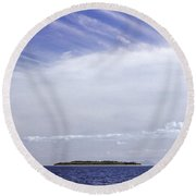 Round Beach Towel featuring the photograph Ahoy Bounty Island Resort by T Brian Jones