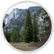 Ahwahnee Setting Round Beach Towel
