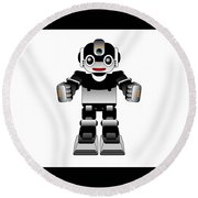Ai Robot Round Beach Towel