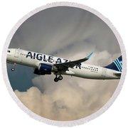 Aigle Azur Airbus A320-200 Round Beach Towel