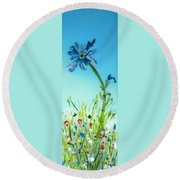 Aiming High Round Beach Towel by Mary Kay Holladay