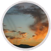 Round Beach Towel featuring the photograph Air Ball Cough by Marie Neder