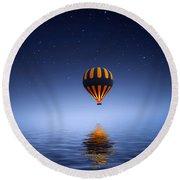 Air Ballon Round Beach Towel by Bess Hamiti