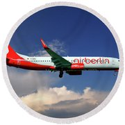 Air Berlin Boeing 737-800 Round Beach Towel