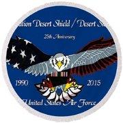 Air Force Desert Storm Round Beach Towel