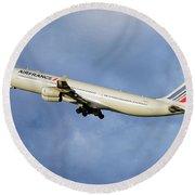 Air France Airbus A340-313 117 Round Beach Towel
