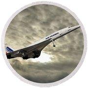Air France Concorde 115 Round Beach Towel
