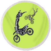Air Riders Round Beach Towel by Caitlyn Grasso