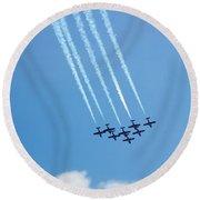 Air Show 3 Round Beach Towel