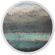Round Beach Towel featuring the photograph Airborn Blues by Ellen O'Reilly