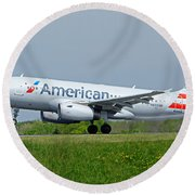 Airbus A319 Round Beach Towel by Guy Whiteley