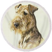 Airedale Round Beach Towel