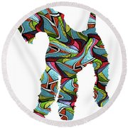 Airedale Terrier Sprit Glass Round Beach Towel