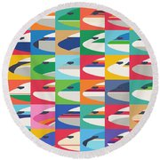Airline Livery - Small Grid Round Beach Towel