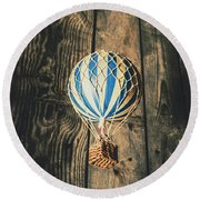 Airs Of An Indoor Retreat Round Beach Towel
