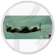 Airventure Race 104 Round Beach Towel