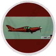 Airventure Race 62 Round Beach Towel