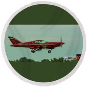 Airventure Race 89 Round Beach Towel