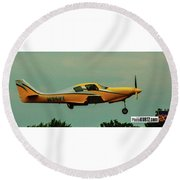 Airventure Yellow Racer Round Beach Towel