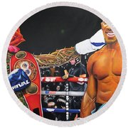 Aj Omo Oduduwa The World Champion Round Beach Towel