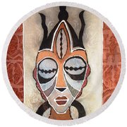 Aje Mask Round Beach Towel