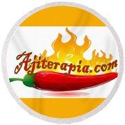 Ajiterapia Logo Round Beach Towel
