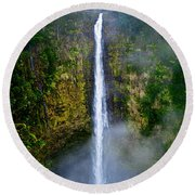 Akaka Falls Round Beach Towel by Christopher Holmes