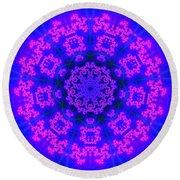 Round Beach Towel featuring the digital art Akbal 9 Beats 4 by Robert Thalmeier
