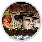 Al Capone On Funfair Round Beach Towel