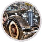 Al Capone's Packard Round Beach Towel
