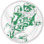 Al Horford Boston Celtics Pixel Art 5 Round Beach Towel