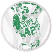 Al Horford Boston Celtics Pixel Art 8 Round Beach Towel