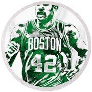 Al Horford Boston Celtics Pixel Art Round Beach Towel