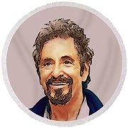 Al Pacino Collection -1 Round Beach Towel