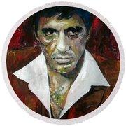 Al Pacino - Tony Montana - Scarface Round Beach Towel