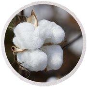 Alabama Cotton Boll Round Beach Towel by Kathy Clark