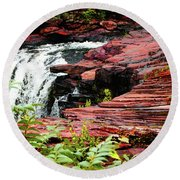 Alabama Falls  Round Beach Towel