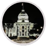 Round Beach Towel featuring the photograph Alabama State Capitol Building by JC Findley