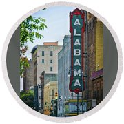 Alabama Theatre Round Beach Towel
