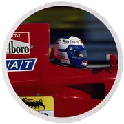 Alain Prost. 1990 French Grand Prix Round Beach Towel
