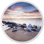 Round Beach Towel featuring the photograph Alakazam by Edward Kreis
