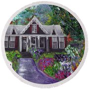 Alameda 1854 Gothic Revival - The Webster House Round Beach Towel