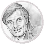 Alan Alda Round Beach Towel