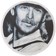 Alan Jackson - In The Real World Round Beach Towel