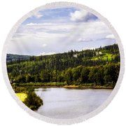 Round Beach Towel featuring the photograph Alaska Float Plane by Madeline Ellis