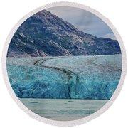 Alaska Glacier Round Beach Towel