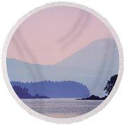 Alaska Landscape Round Beach Towel