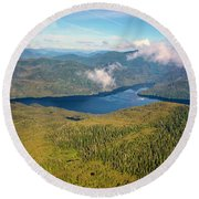 Round Beach Towel featuring the photograph Alaska Overview by Madeline Ellis