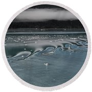 Alaskan Sea Scape Two Round Beach Towel by Gary Warnimont