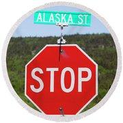 Alaska Street Round Beach Towel